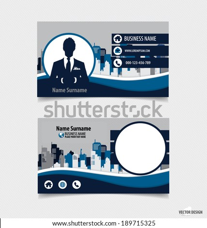 Abstract creative business card template, vector illustration. #189715325