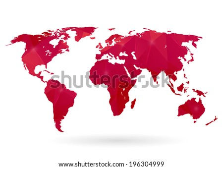 Abstract creative concept modern map of the world  #196304999