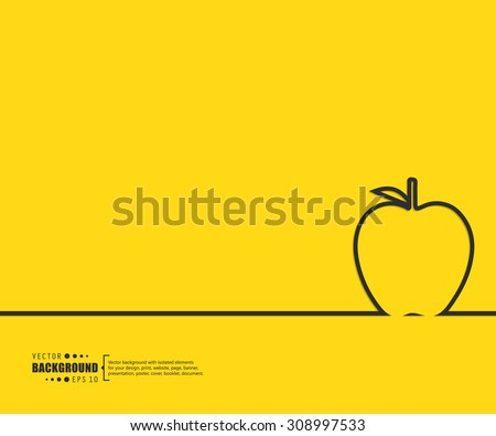 Apple vector illustration logo and symbols template