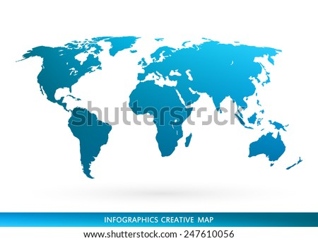 Free earth globe vector flat icons download free vector art abstract creative concept vector map of the world for web and mobile applications isolated on background gumiabroncs Choice Image