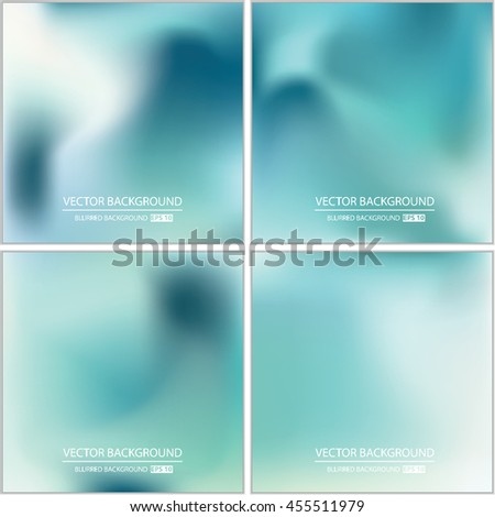Abstract creative concept vector multicolored blurred background set. For web and mobile app, art illustration template design, business infographic and social media, modern decoration.