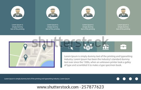 Abstract creative concept vector user interface template (panel menu). For web, site, digital mobile applications isolated on background, art illustration, design, business infographic, apps, software