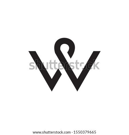 Abstract Creative Letter W Logo Zdjęcia stock ©