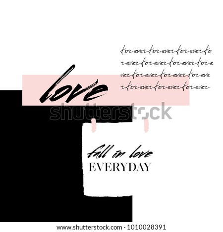 abstract creative love collage