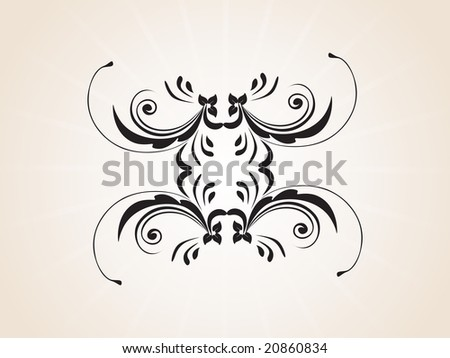 stock vector : abstract creative tattoo