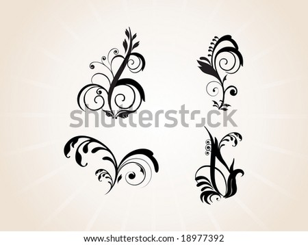 stock vector abstract creative tattoo design
