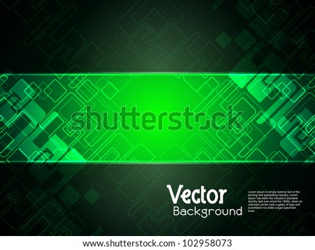 Abstract creative technology background with black banner. vector illustration