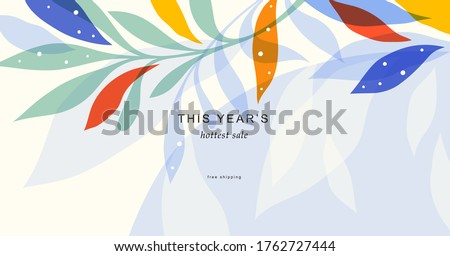 Abstract creative universal artistic template. Good for email header, social media post, AD, event and page cover, banner, background, brand identity, business card, brochure and other graphic design. ストックフォト ©