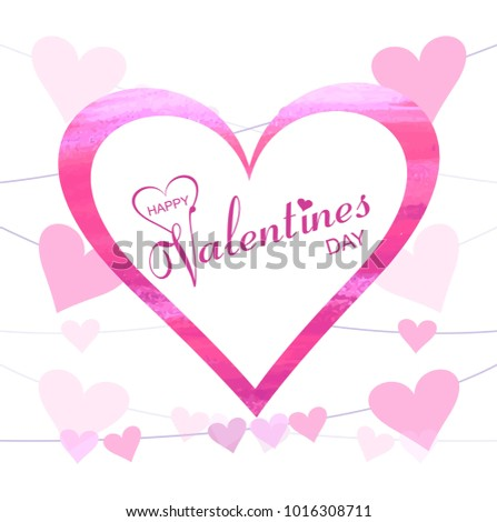 Abstract Creative Valentine S Day Hearts Background Illustration