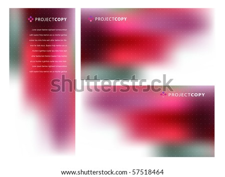 Abstract Creative Vector Background Set