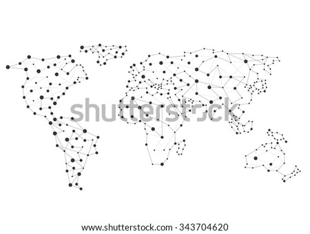 Free vector pixel world map download free vector art stock abstract creative world map connection concept vector illustration gumiabroncs Gallery