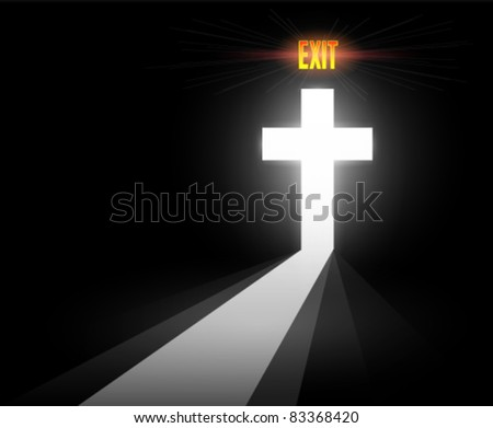 Abstract Cross with Exit to the After Life