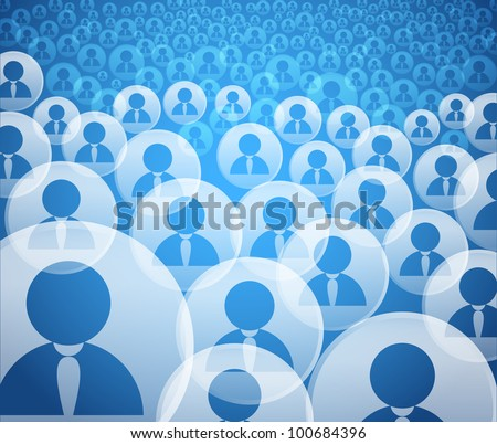 Abstract crowd of social media account icons - stock vector