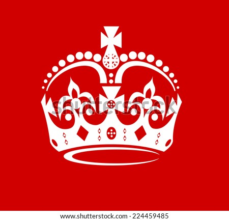 abstract crown on a red