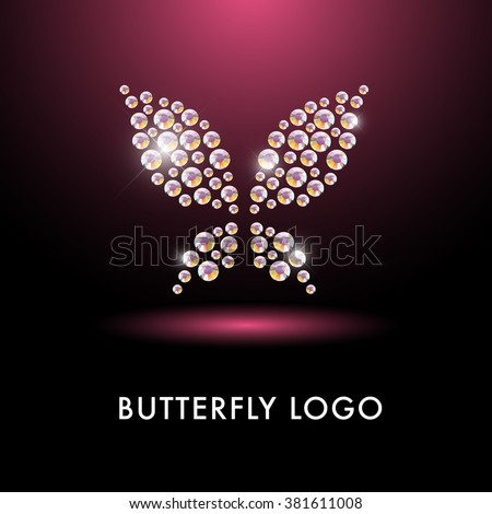 abstract crystal logo with
