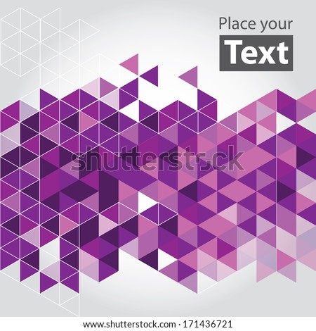 abstract cube mosaic background
