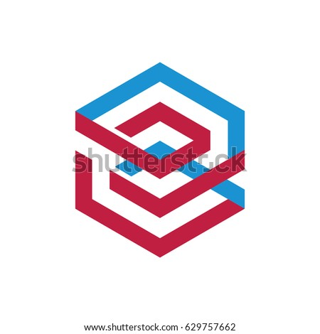 abstract cube square hexagon