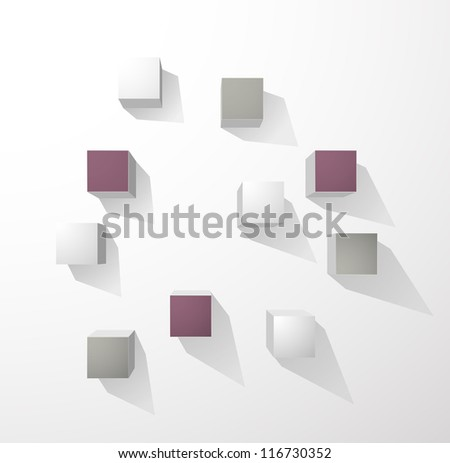 Abstract cubes wall background