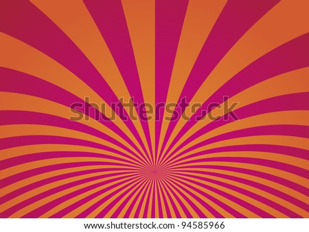 Abstract Curved Stripes Background - Vector Illustration