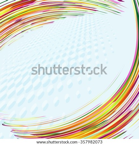abstract curves lines vector