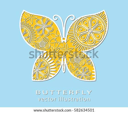 abstract cut butterfly
