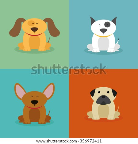 abstract cute dogs on a special