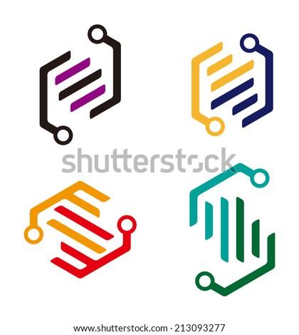 Digital Element Logo Abstract Cute Logo Element