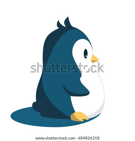 abstract cute penguin isolated