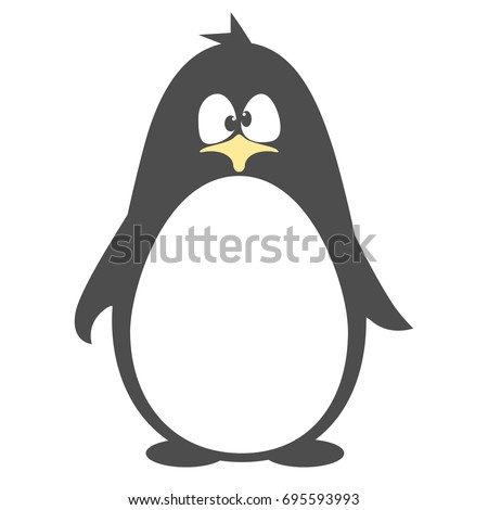 abstract cute penguin vector in