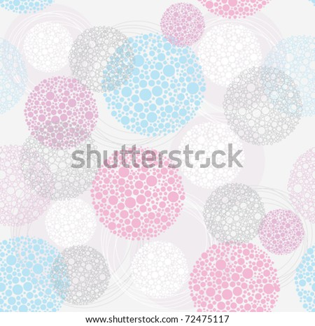 Abstract cute seamless polka dot circle background pattern.