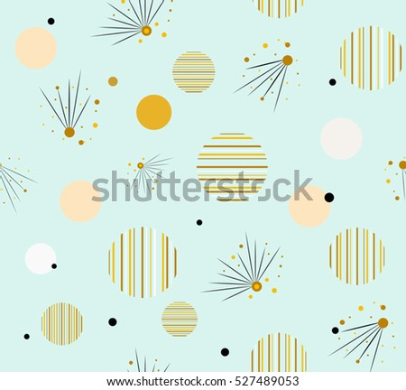 abstract cute stripes circle
