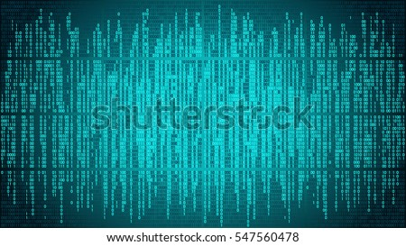 Abstract cyberspace with digital lines, binary code, matrix background with digits