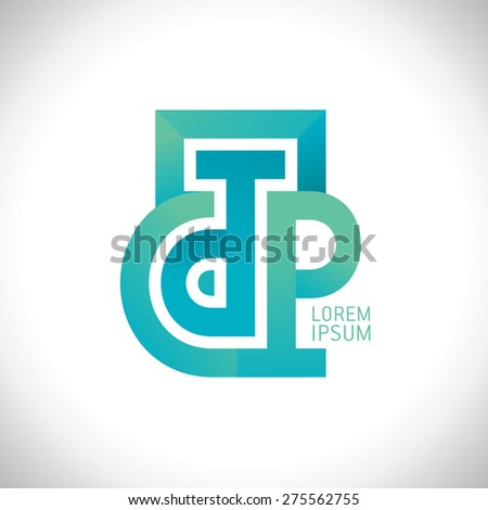 Abstract D and P letters logo, or C T P letters. Photo stock ©