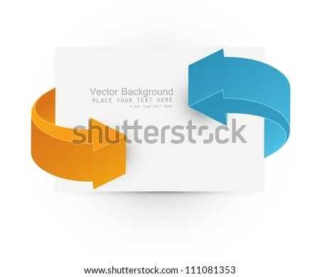 abstract 3d arrows business frame vector whit background