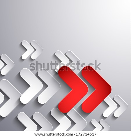 Abstract 3d arrows moving forward - eps10 vector