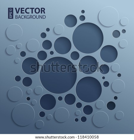 Abstract 3D background with dark inner and outer circles