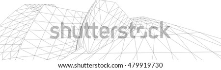 abstract 3d building vector