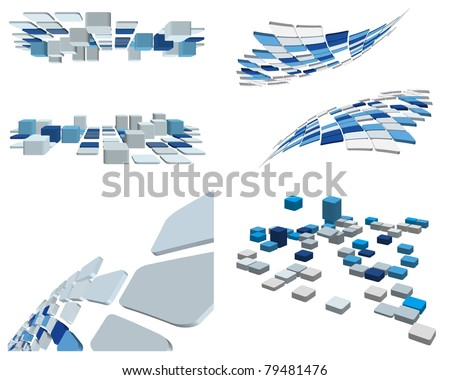 Abstract 3d checked  business background set for use in web design