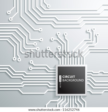 Abstract 3D circuit board cpu Design