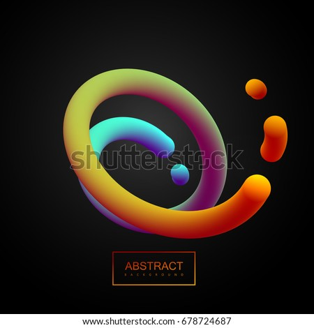 abstract 3d colorful curved