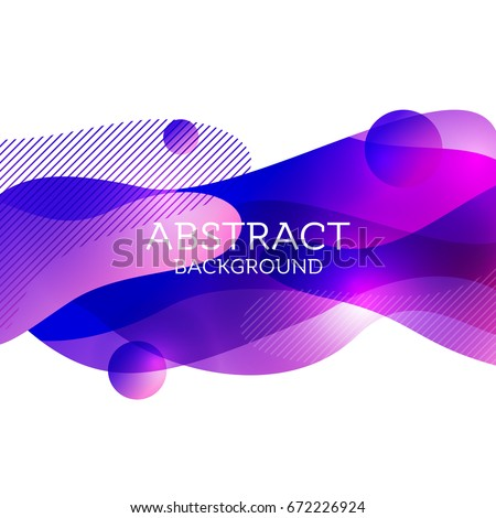 Abstract 3d colorful gradient drop liquid for social media and print