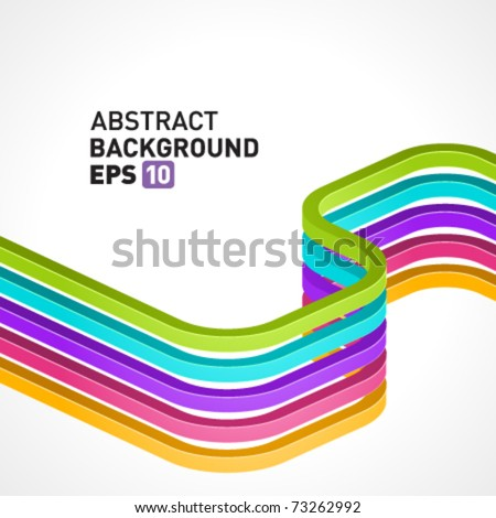 Abstract 3d colorful lines vector background. Eps 10
