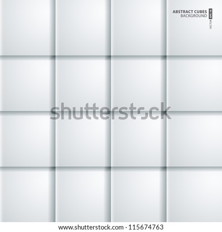 abstract 3D cubes background design