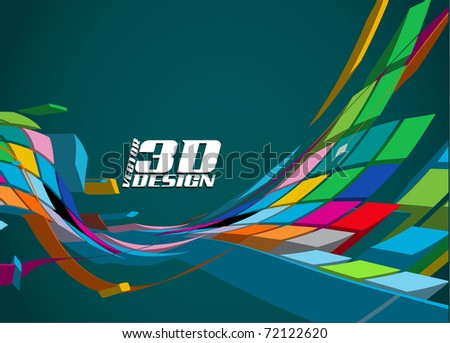 Abstract 3d Design Background, Vector Illustration ...