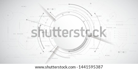 Abstract 3d design background with technology dot and line circuit board texture. Modern engineering, futuristic, science communication concept. Vector illustration