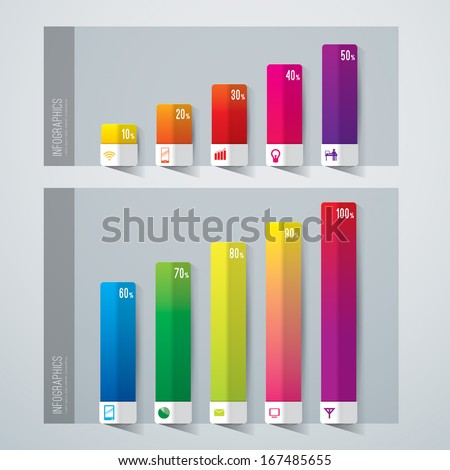 Abstract 3D digital illustration graph. Vector illustration can be used for workflow layout, diagram, number options, web design.  Stock photo ©