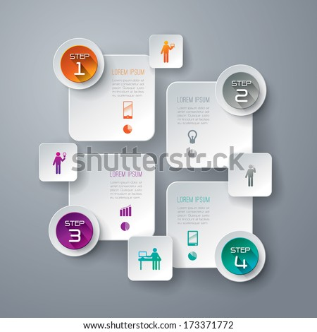 Abstract 3D digital illustration Infographic. Vector illustration can be used for workflow layout, diagram, number options, web design.