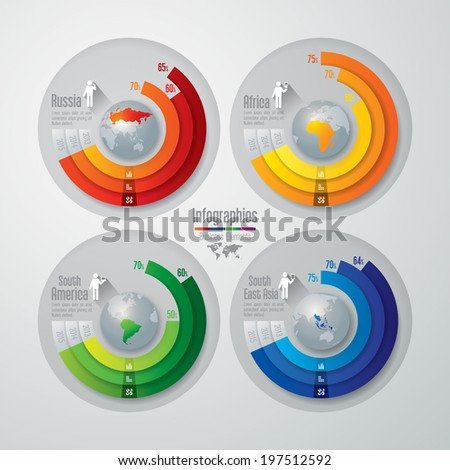 Abstract 3D digital illustration Infographic Vector illustration can be used for workflow layout diagram number options web design