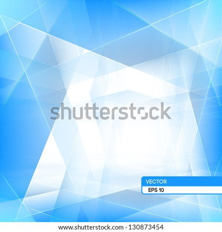 Abstract 3d effect background. EPS 10 vector illustration. Used opacity mask and transparency layers of background and mesh objects