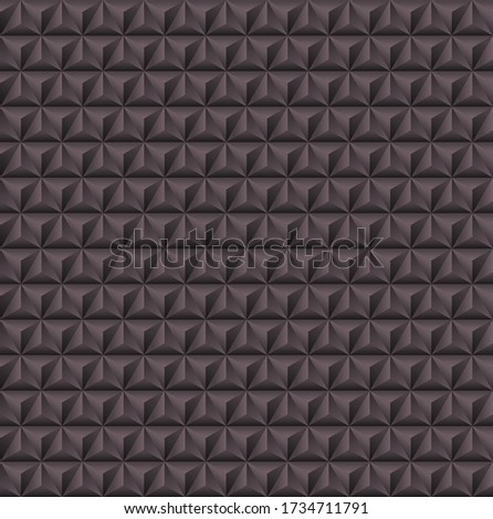 Abstract 3d geometric background with triangular pyramids. 3d vector wall pattern.